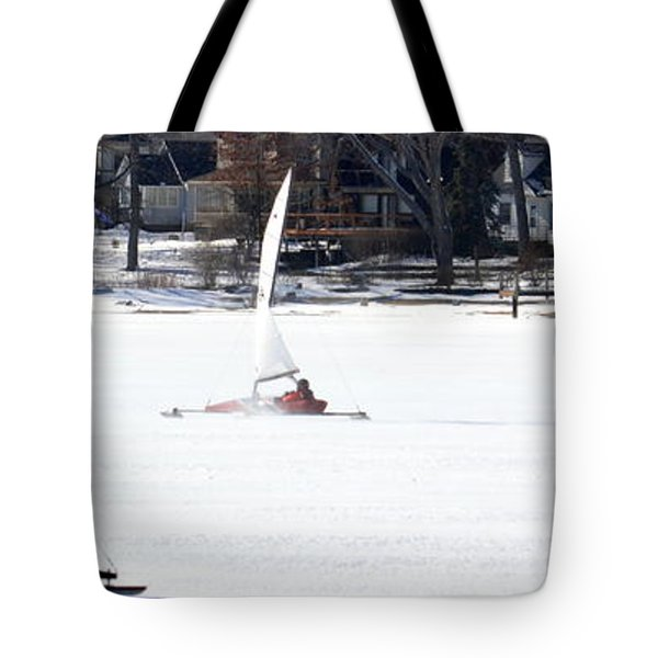 Ice Yacht Race Tote Bag