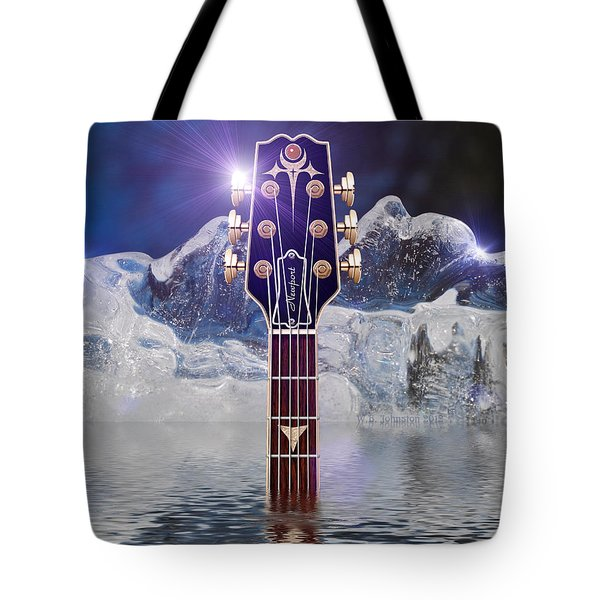 Tote Bag featuring the digital art Iceberg Blues by WB Johnston