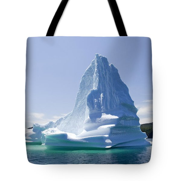 Tote Bag featuring the photograph Iceberg Canada by Liz Leyden