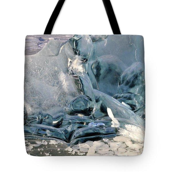 Iceberg Detail Tote Bag by Cathy Mahnke