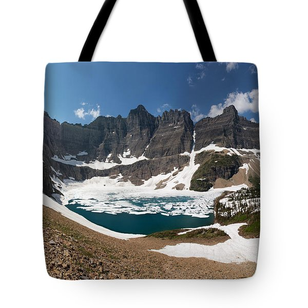 Tote Bag featuring the photograph Iceberg Lake by Aaron Aldrich