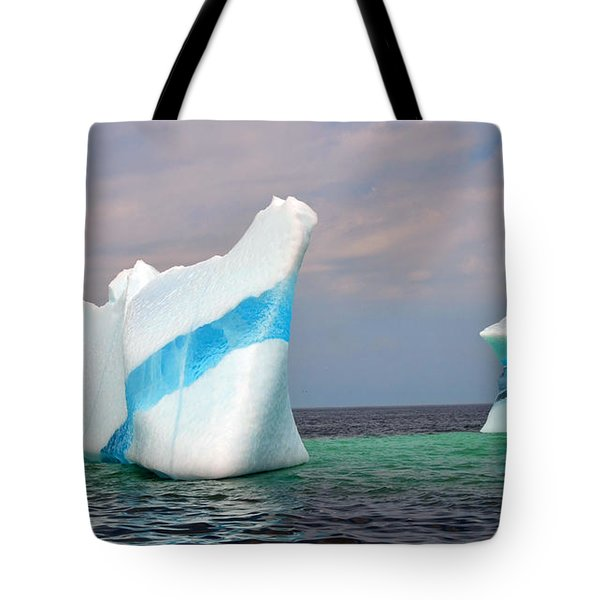 Iceberg Off The Coast Of Newfoundland Tote Bag by Lisa Phillips