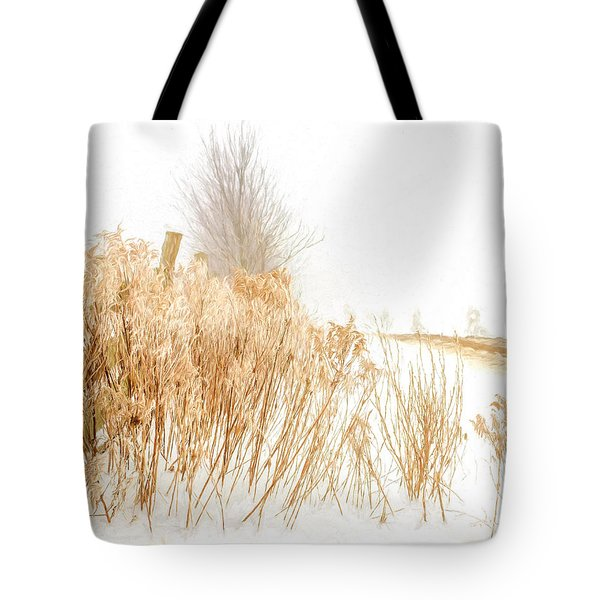 Iced Goldenrod At Fields Edge - Artistic Tote Bag