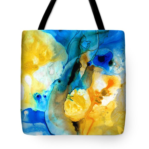 Iced Lemon Drop - Abstract Art By Sharon Cummings Tote Bag