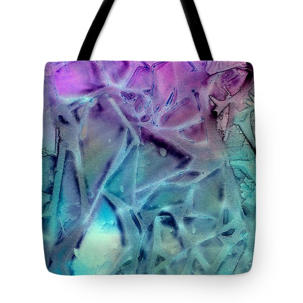 Iced Rhododendron Tote Bag