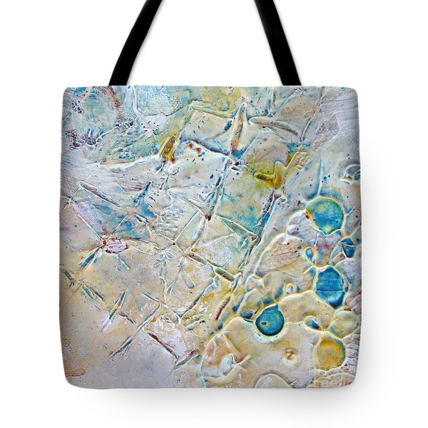 Tote Bag featuring the mixed media Iced Texture I by Phyllis Howard