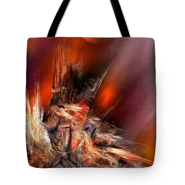 Icefire Tote Bag by Francoise Dugourd-Caput