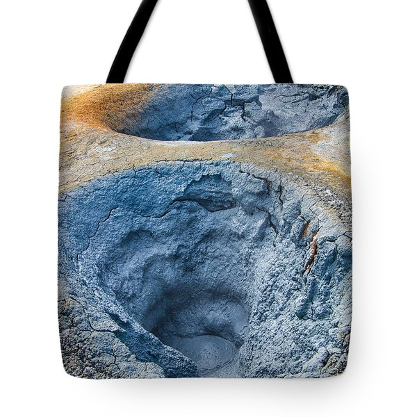 Iceland Natural Abstract Mudpot And Sulphur Tote Bag by Matthias Hauser