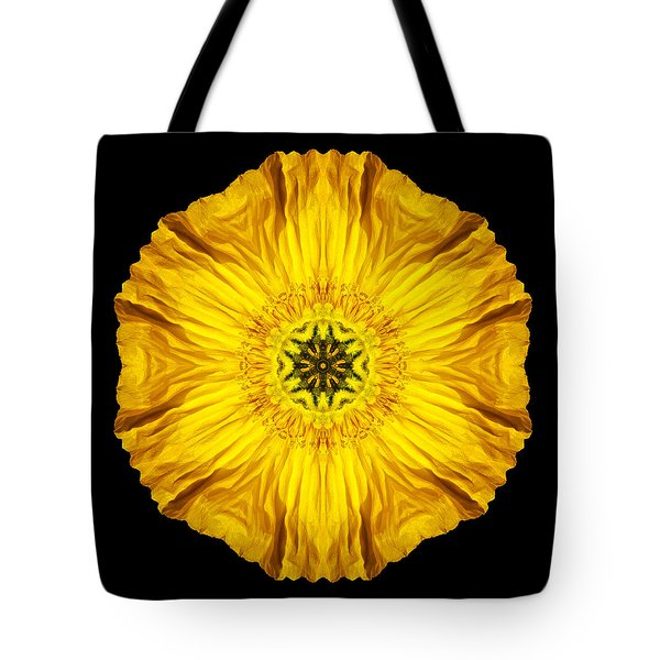 Iceland Poppy Flower Mandala Tote Bag