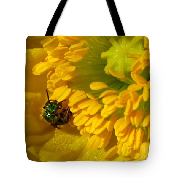 Tote Bag featuring the photograph Iceland Poppy Pollination by J McCombie