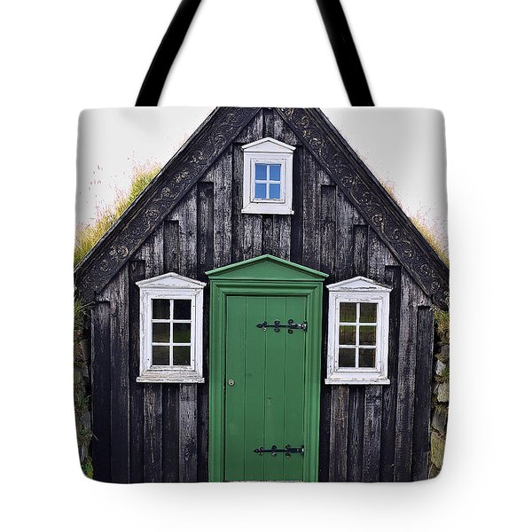Icelandic Old House Tote Bag