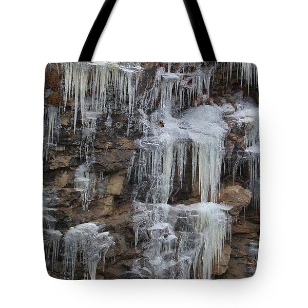 Icicle Cliffs Tote Bag