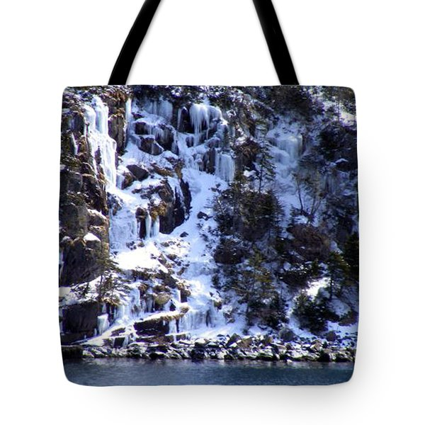 Icicle House Tote Bag by Barbara Griffin