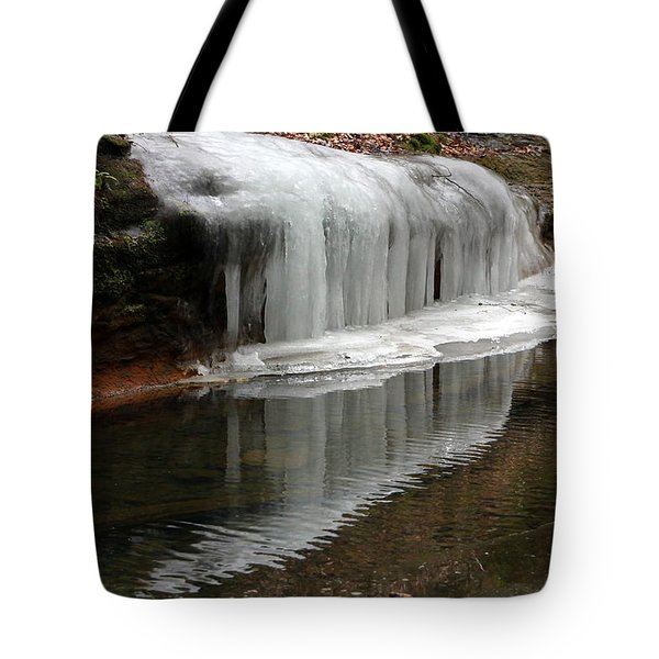 Icicle Reflection  Tote Bag