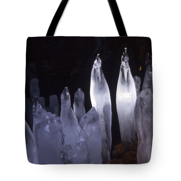 Icicles In A Cave Tote Bag