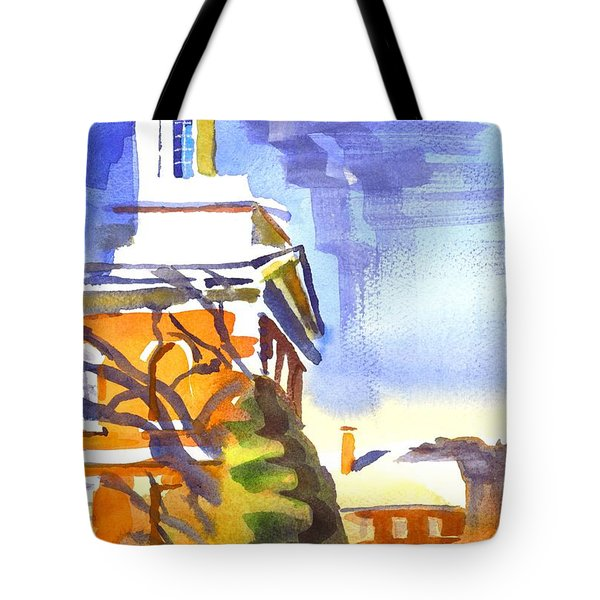 Icicles In The Sky Tote Bag by Kip DeVore