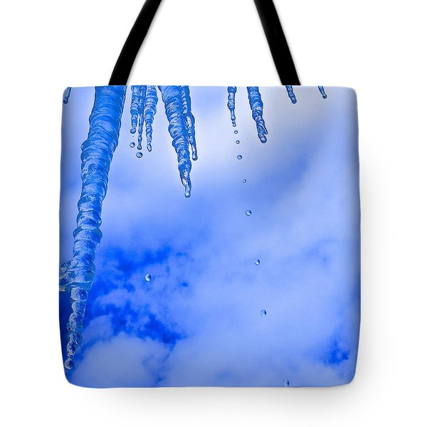 Icicles Melting Tote Bag by Rita Mueller