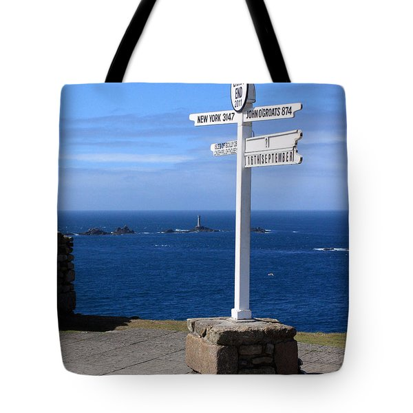 Tote Bag featuring the photograph Iconic Lands End England by Terri Waters