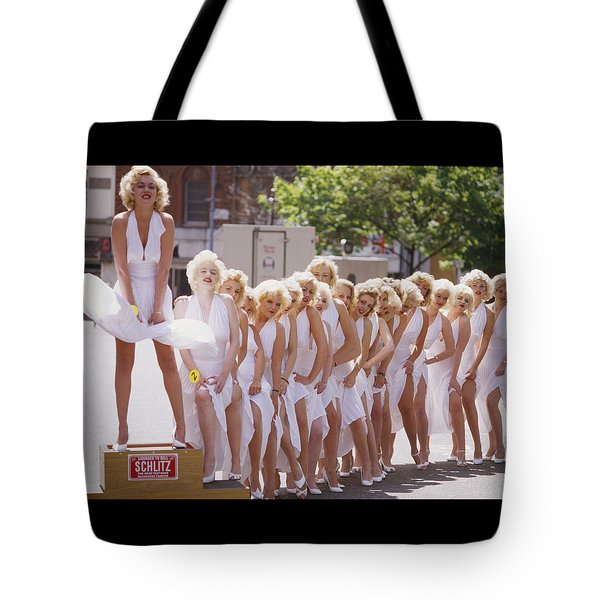 Iconic Marilyn Tote Bag by Shaun Higson