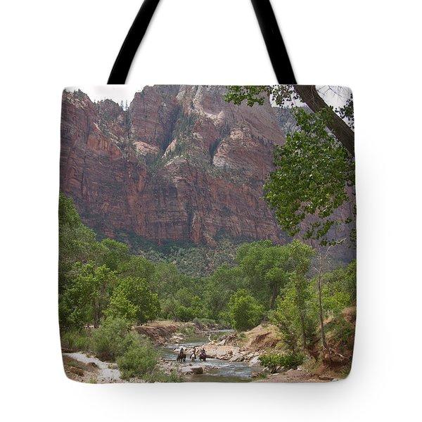 Iconic Western Scene Tote Bag