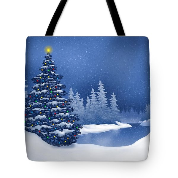 Icy Blue Tote Bag