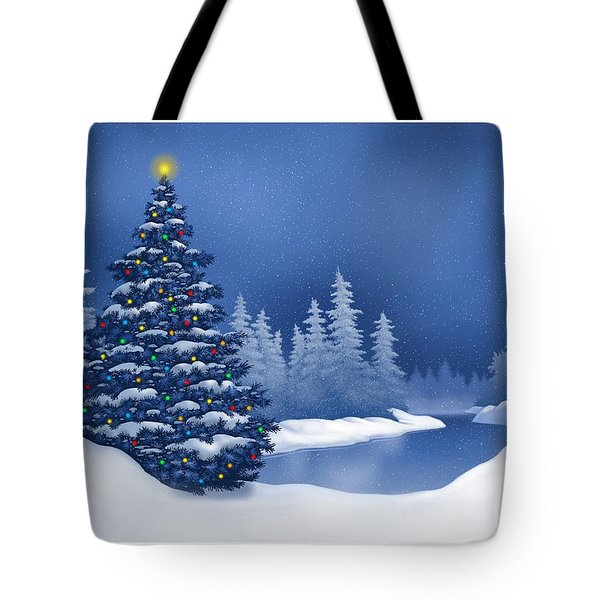 Icy Blue Tote Bag by Scott Ross