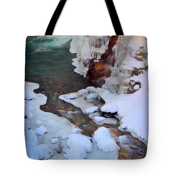 Icy Christine Falls  Tote Bag