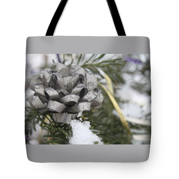 Icy Christmas Tree Tote Bag