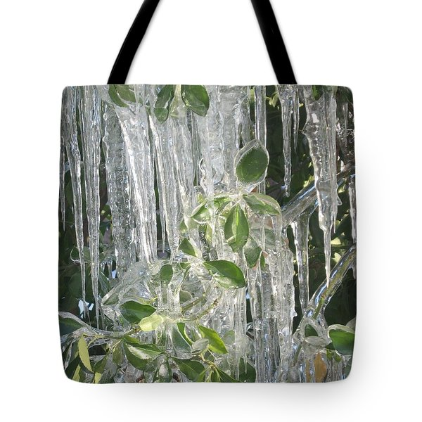 Icy Green Tote Bag