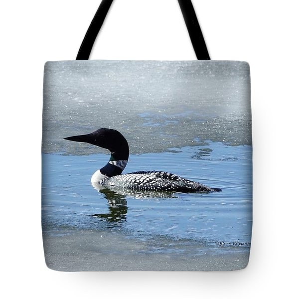 Icy Loon Tote Bag by Steven Clipperton