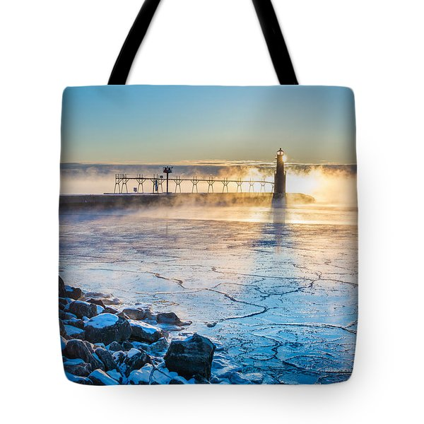 Icy Morning Mist Tote Bag by Bill Pevlor
