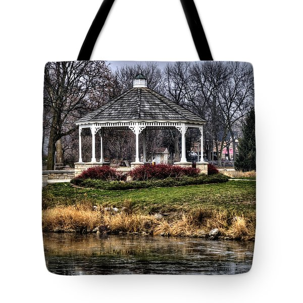 Tote Bag featuring the photograph Icy Reflection by Deborah Klubertanz