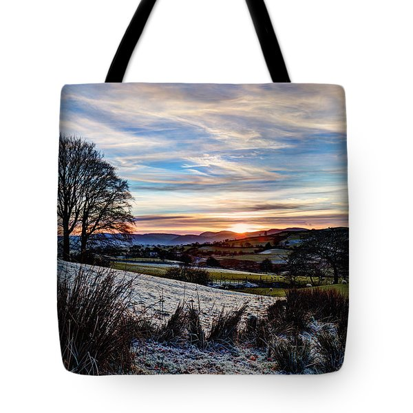 Icy Sunset Tote Bag
