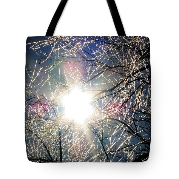Icy Web Tote Bag