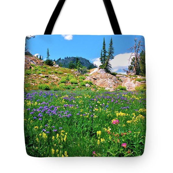 Idaho Mountain Wildflowers Tote Bag