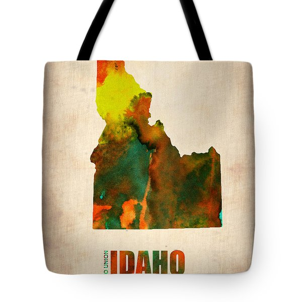 Idaho Watercolor Map Tote Bag