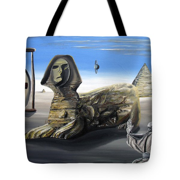 Tote Bag featuring the painting Idolatary Conformity by Ryan Demaree