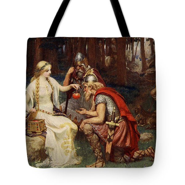 Idun And The Apples, Illustration Tote Bag by James Doyle Penrose