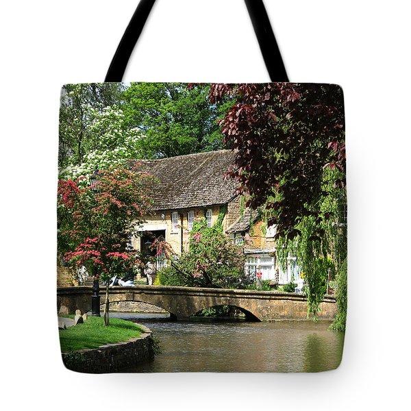 Idyllic Village Scene Tote Bag