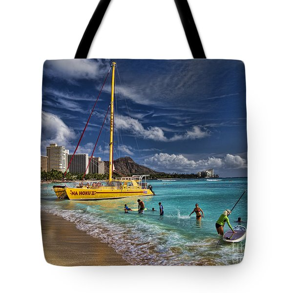 Idyllic Waikiki Beach Tote Bag