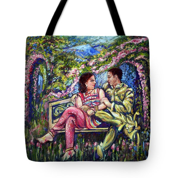 Tote Bag featuring the painting If I Will Get Your Love by Harsh Malik
