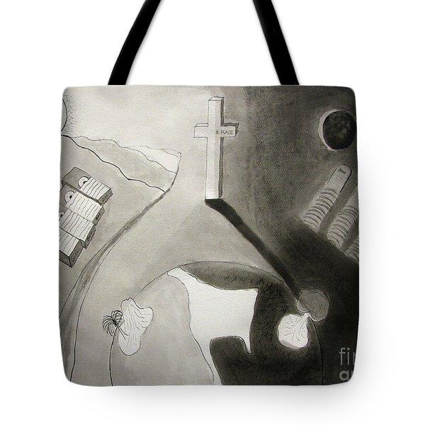 If Not Left In Gods Hands Tote Bag by Peter Piatt