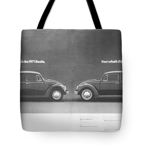 If This Is The 1971 Beetle.............. Tote Bag by Georgia Fowler