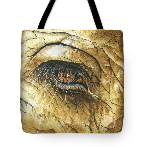 Tote Bag featuring the painting If You Could See What I've Seen... by Barbara Jewell