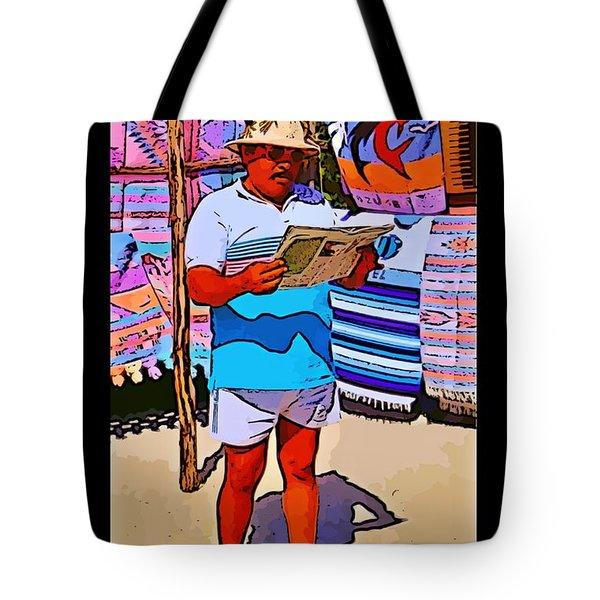 Iguana Man The Poster Tote Bag by John Malone