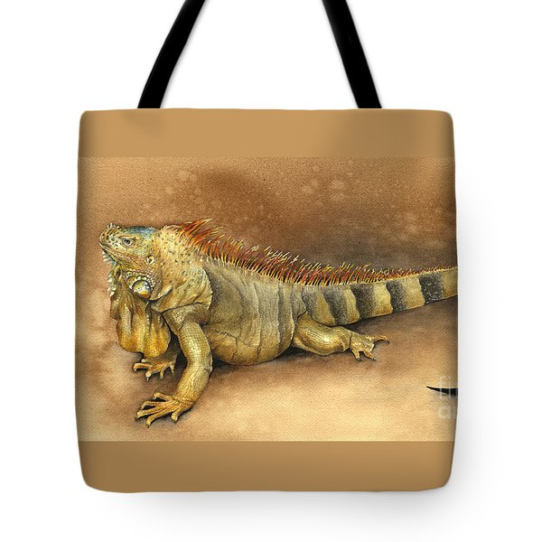 Iguana Tote Bag by Nan Wright