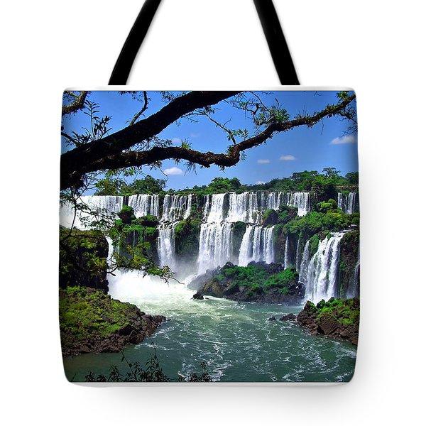 Iguazu Falls In Argentina Tote Bag