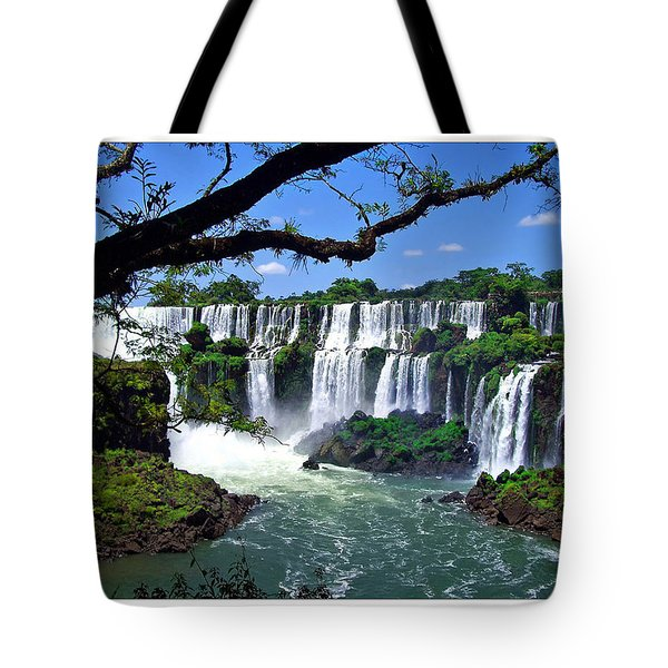 Iguazu Falls In Argentina Tote Bag by Joan  Minchak