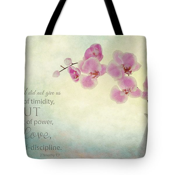 Ikebana With Message Tote Bag