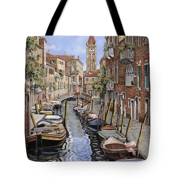 il gatto nero a Venezia Tote Bag